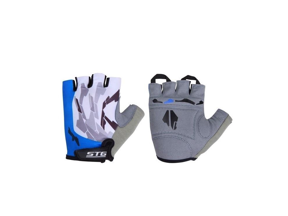 Перчатки велосипедные STG 61877 (кожа+лайкра)