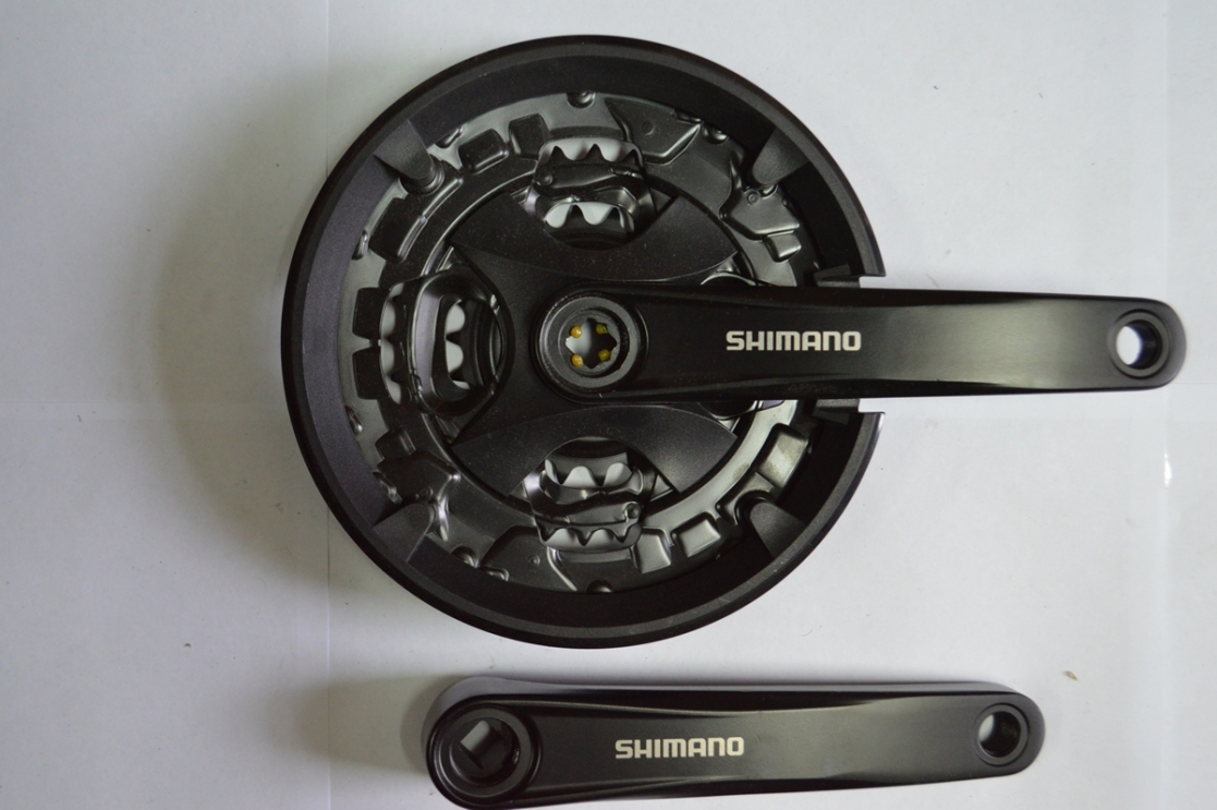 Шатун со звездой SHIMANO MT-101 44/32/22 170mm