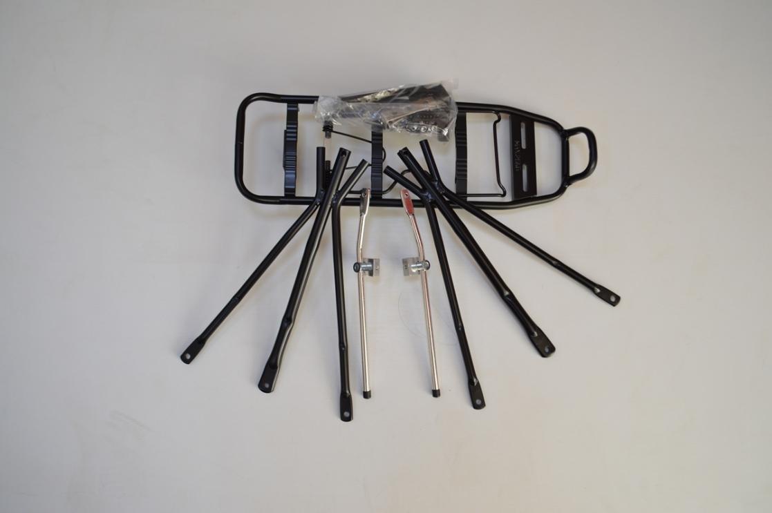 Багажник алюминиевый 24-28 черн под диск торм, код 90311